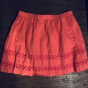 Crown & Ivy Linen Blend Lined Short Skirt Size 14